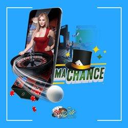 Jeux avec croupier en direct du casino MaChance